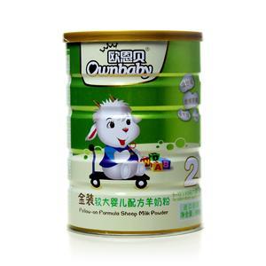 欧恩贝金装较大婴儿配方羊奶粉2段800g