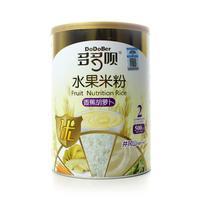 多多呗香蕉胡萝卜营养米粉(2段)500g听装(水果米粉)