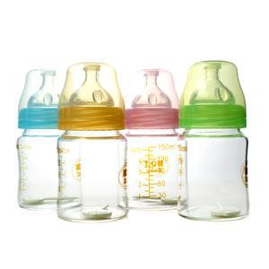 NO.1BABY宽口径弧形玻璃奶瓶150ml