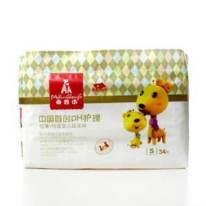母婴坊中国首创PH超薄特柔纸尿裤 S号 34片
